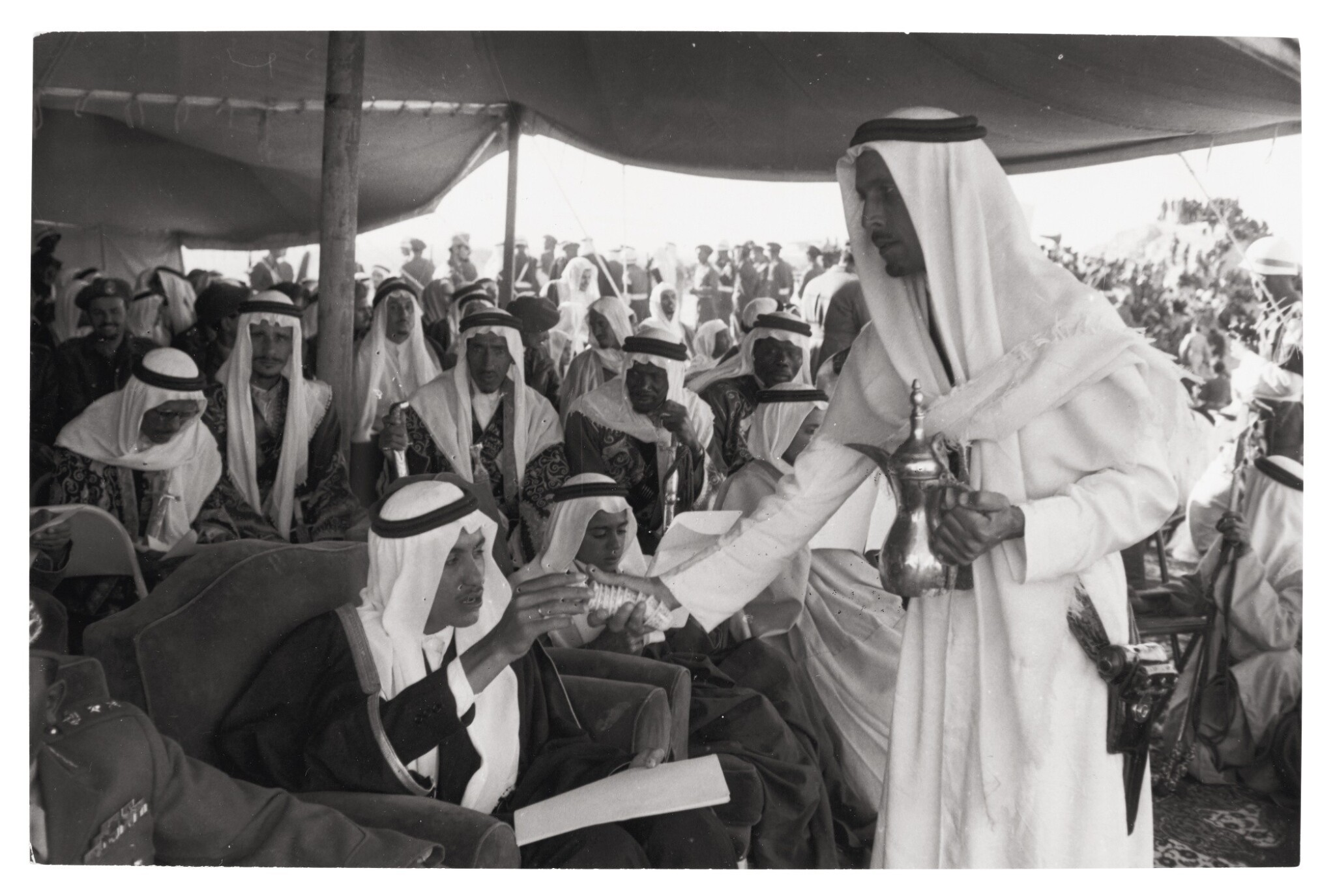 View 1 of Lot 252. Saudi Arabia | Group of photographs and one glass negative. (Includes 2 boxes).