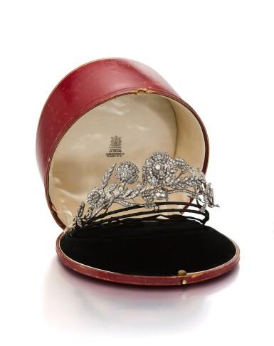 View 1. Thumbnail of Lot 1655. DIAMOND TIARA,POSSIBLY CARRINGTON & CO., LATE 19TH CENTURY | 鑽石冠冕 , Possibly Carrington & Co., 19 世紀晚期.