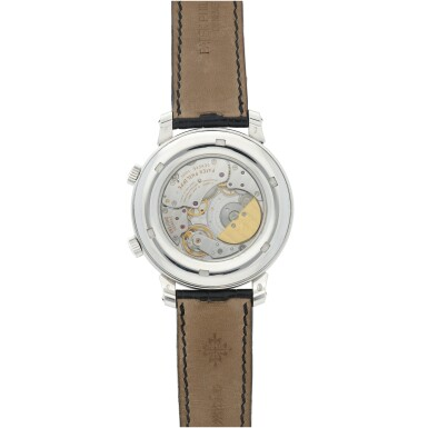 View 6. Thumbnail of Lot 178. REFERENCE 5102G-001 CELESTIAL A WHITE GOLD AUTOMATIC ASTRONOMICAL WRISTWATCH WITH SKY CHART, PHASES AND POSITION OF THE MOON, AND TIME OF MERIDIAN PASSAGE OF SIRIUS, MADE IN 2003.