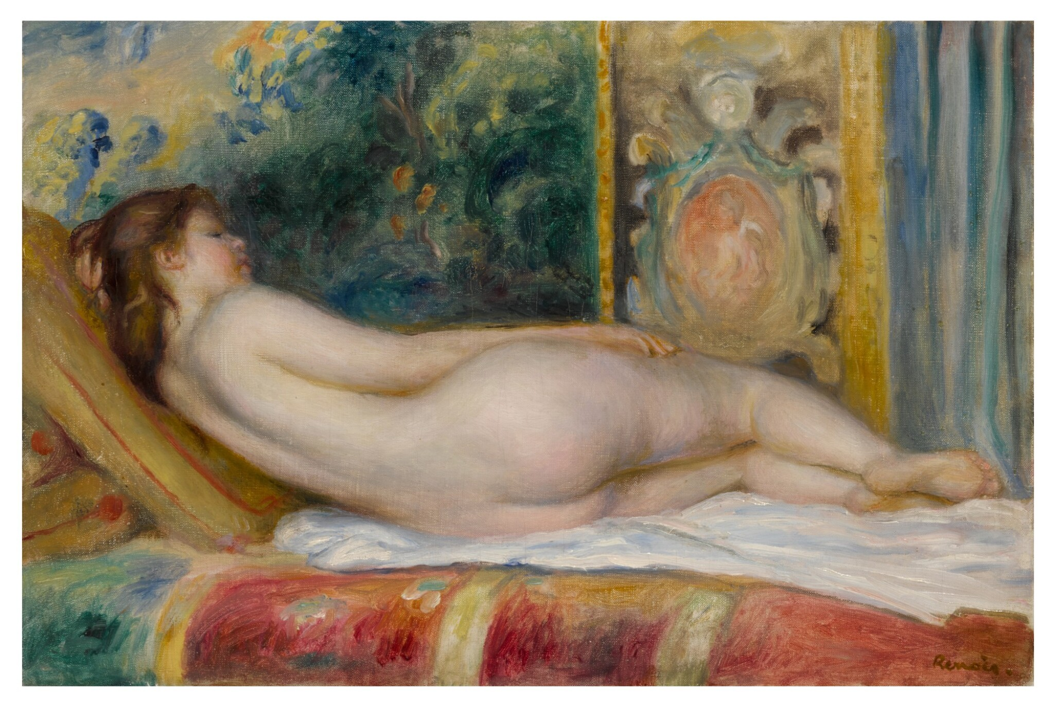 View full screen - View 1 of Lot 1025. Femme nue couchée.