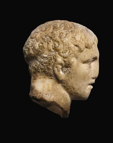 View 2. Thumbnail of Lot 28. A ROMAN MARBLE HEAD OF A MAN, CIRCA 1ST CENTURY A.D..