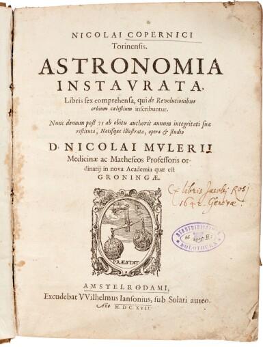 View 1. Thumbnail of Lot 12. Copernicus | Astronomia instaurata libri sex, Amsterdam, 1617, contemporary vellum.