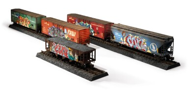 View 10. Thumbnail of Lot 5. TIM CONLON | Five B-Boy G Scale Trains, 2020..