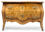 A GERMAN GILT-BRONZE MOUNTED WALNUT AND FRUITWOOD MARQUETRY COMMODE, ATTRIBUTED TO THE SPINDLER BROTHERS, BERLIN OR POTSDAM CIRCA 1765-70