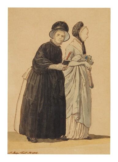 CHRISTOFFEL MEIJER | TWO OLD LADIES WALKING TO CHURCH