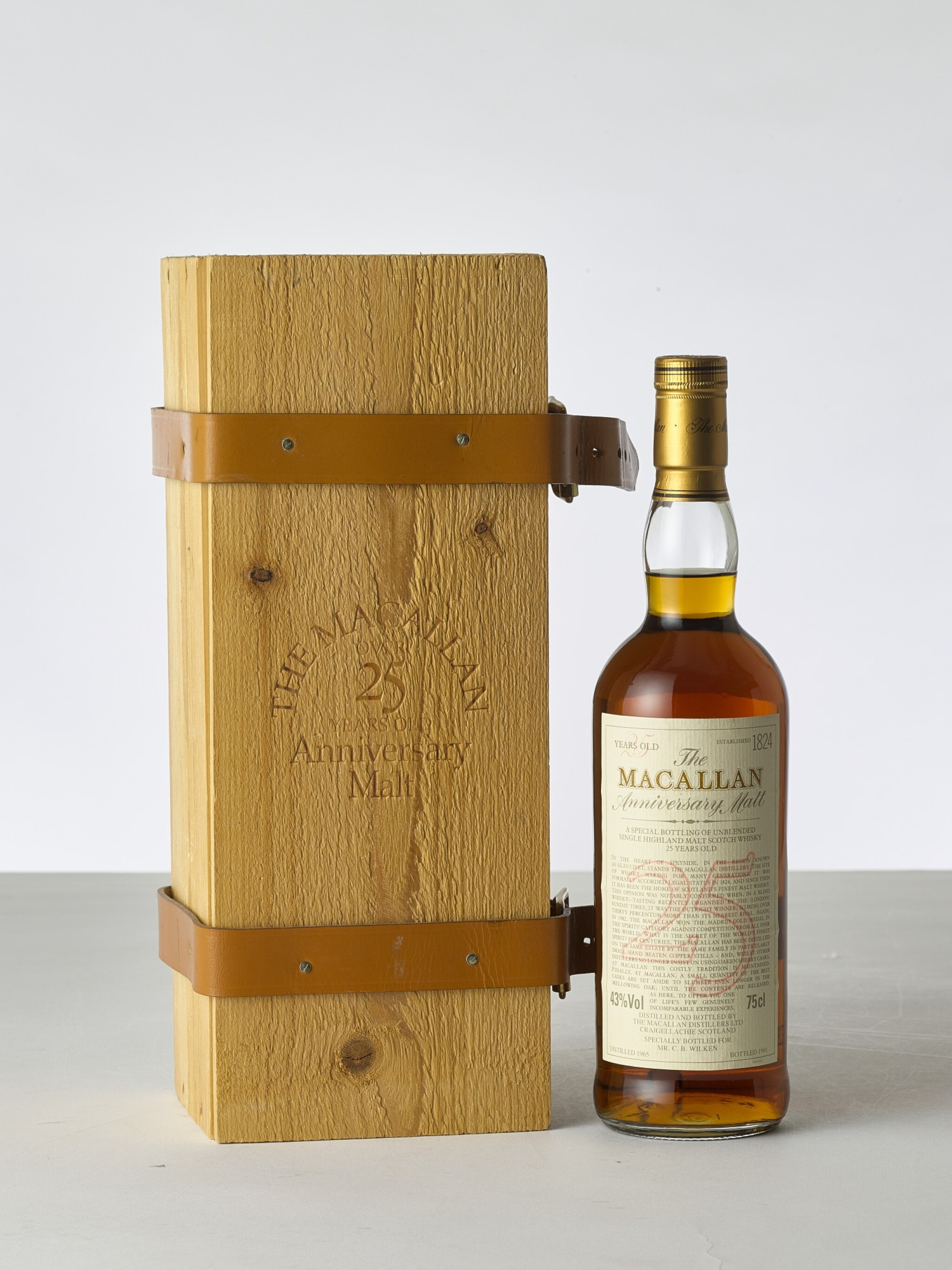 View 1 of Lot 2011. The Macallan 25 Year Old Anniversary Malt 43.0 abv 1965 (1 BT).