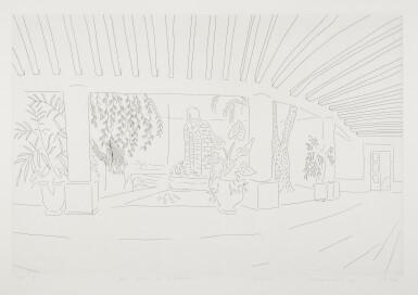 View 1. Thumbnail of Lot 144. DAVID HOCKNEY, R.A. | MEXICAN HOTEL GARDEN (MCA TOKYO 256).