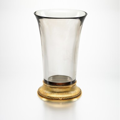View 1. Thumbnail of Lot 12. THE IMPERIAL 'BALLETTA' VASE: A RARE AND IMPORTANT FABERGÉ TWO-COLOUR GOLD-MOUNTED SMOKY TOPAZ VASE, WORKMASTER MICHAEL PERCHIN, ST PETERSBURG, 1899-1903.