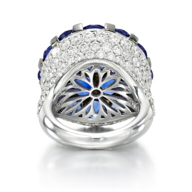 View 3. Thumbnail of Lot 65. GRAFF   SAPPHIRE AND DIAMOND RING.