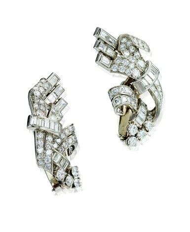 View 2. Thumbnail of Lot 9117. PAIR OF DIAMOND EAR CLIPS | 鑽石耳環一對.