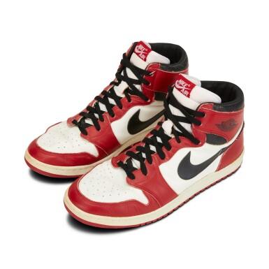 View 9. Thumbnail of Lot 803. Michael Jordan Game Worn 1985 Player Sample Air Jordan 1s | Sizes 13, 13.5.