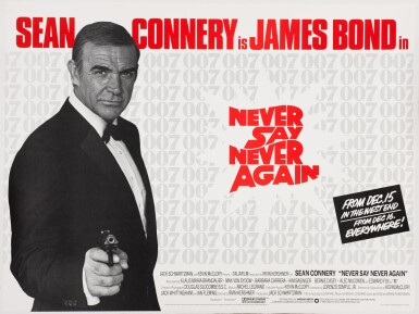 View 1. Thumbnail of Lot 146. NEVER SAY NEVER AGAIN (1983) POSTER, BRITISH, ADVANCE.
