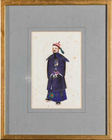 View 5. Thumbnail of Lot 163. A set of fourteen Chinese paintings on silk, Canton, 19th century.