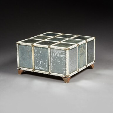 View 4. Thumbnail of Lot 137. A LARGE INDIAN MIRRORED AND ENGRAVED IVORY CASKET.