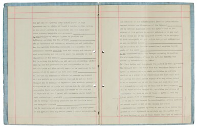 View 3. Thumbnail of Lot 168. The Beatles, signed management contract with Brian Epstein, 24 January 1962.