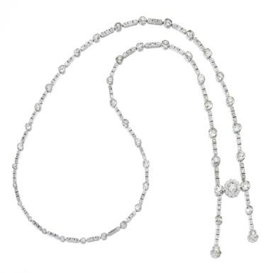 View 1. Thumbnail of Lot 36. Diamond necklace, circa 1900.