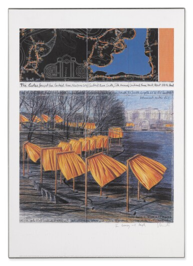 View 3. Thumbnail of Lot 34. The Gates, Project for Central Park, New York City: 5 Prints.