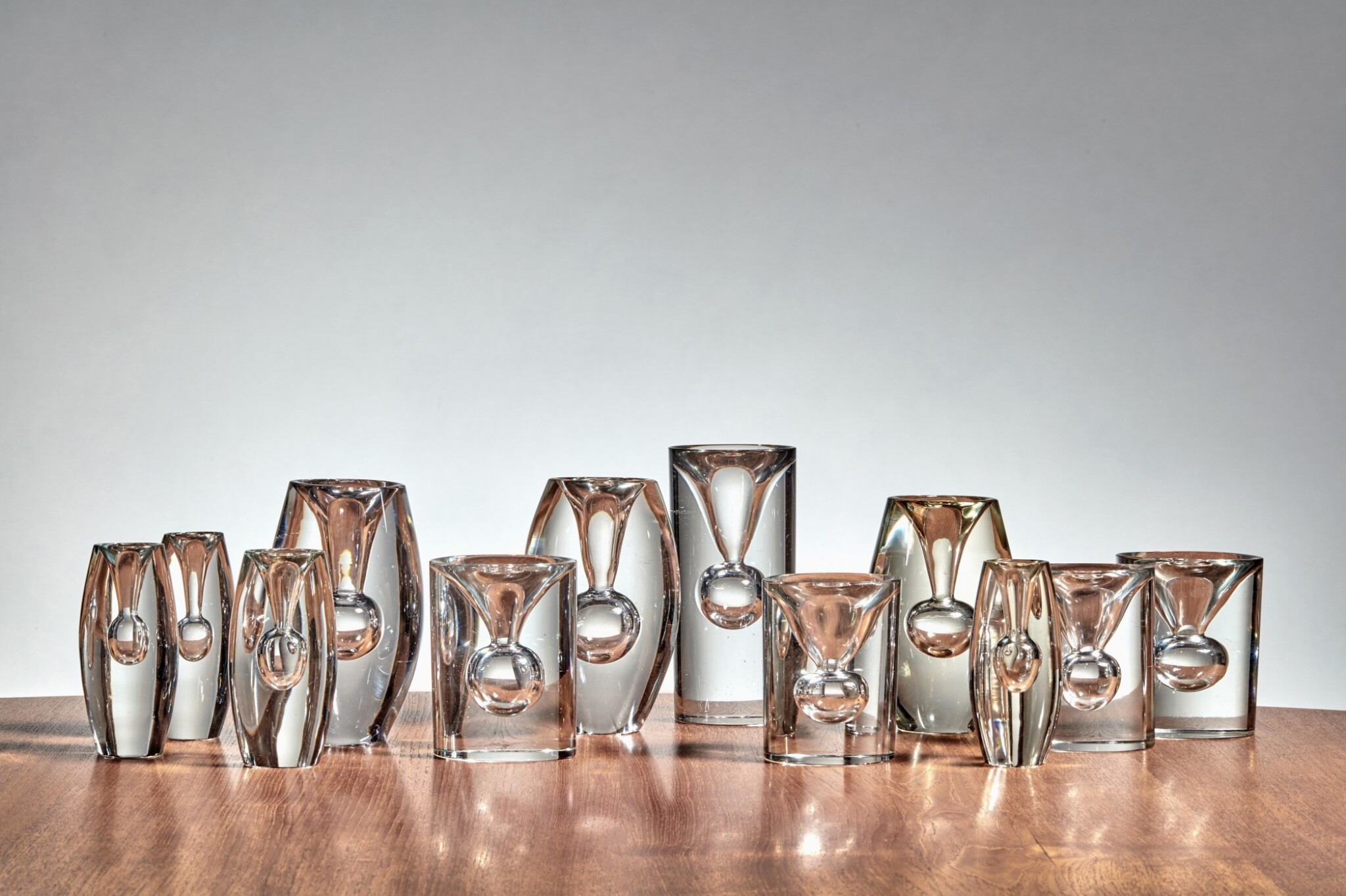 """View full screen - View 1 of Lot 74. Group of 12 """"Tokio"""" Vases."""