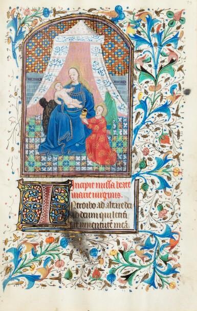 View 4. Thumbnail of Lot 23. Livre d'heures (usage de Rome). Heures dites de Fyot de Mimeure. [Belgique, Bruges, vers 1460].