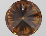 A 1.23 Carat Round Fancy Deep Brownish Yellowish Orange Diamond, SI2 Clarity