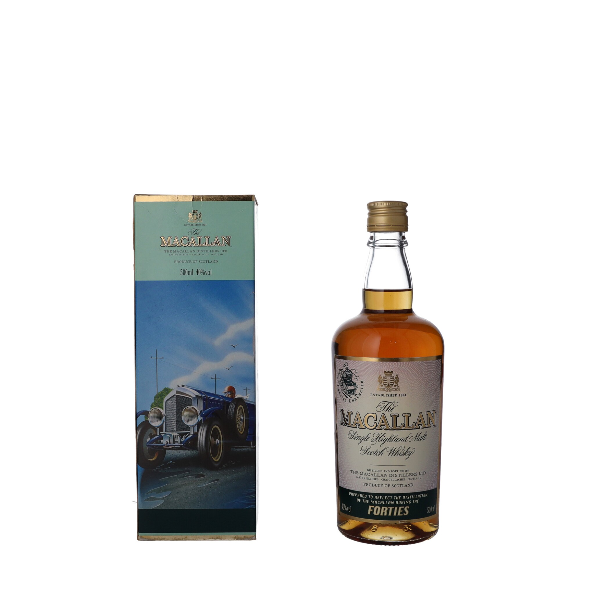 """View full screen - View 1 of Lot 55. The Macallan Travel Decades Series """"Forties"""" 40.0 abv NV (1 BT50)."""