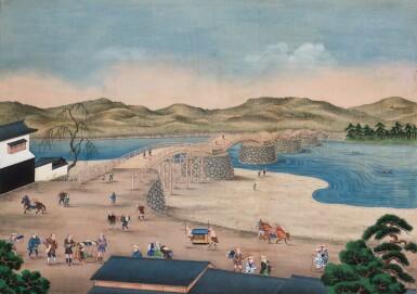 View 5. Thumbnail of Lot 116. ATTRIBUTED TO KAWAHARA KEIGA (1786–1860) STUDIO, A GROUP OF ELEVEN VIEWS STUDIO, EDO PERIOD, EARLY 19TH CENTURY  .