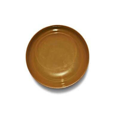 View 5. Thumbnail of Lot 137. A cafe-au-lait-glazed bowl, Seal mark and period of Qianlong | 清乾隆 紫金釉弦紋盌 《大清乾隆年製》款.