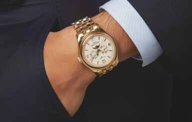 View 4. Thumbnail of Lot 152. PATEK PHILIPPE   REF 5146/1J, A YELLOW GOLD AUTOMATIC ANNUAL CALENDAR WRISTWATCH WITH MOON PHASES AND POWER RESERVE INDICATION MADE IN 2008.