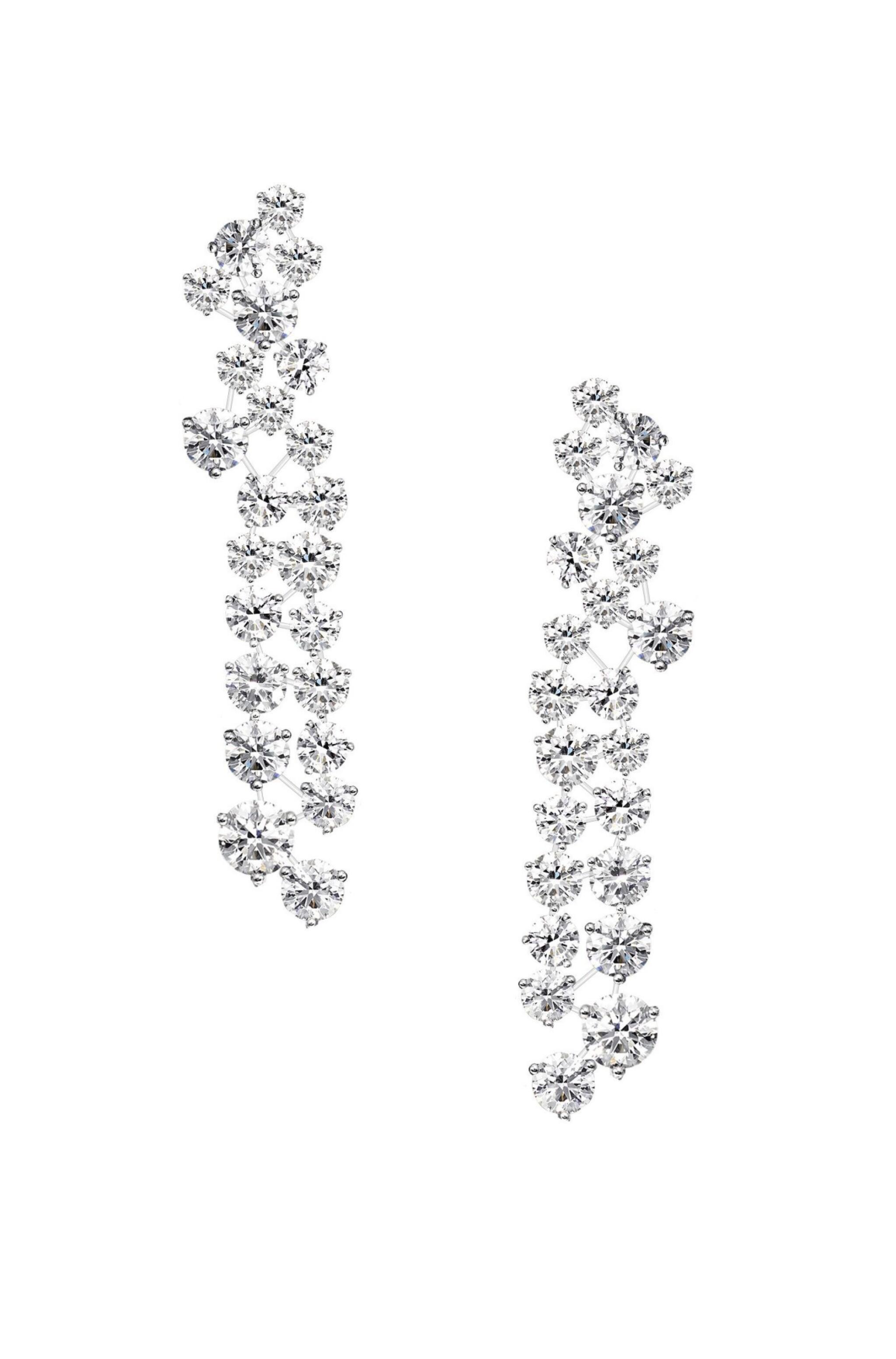 View full screen - View 1 of Lot 50. GRAFF | PAIR OF DIAMOND 'GALAXY' PENDANT-EARCLIPS  格拉夫 | 鑽石「Galaxy」吊耳環一對.