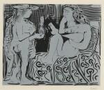 PABLO PICASSO | DEUX FEMMES AVEC UN VASE À FLEURS (B. 915; BA. 1239)