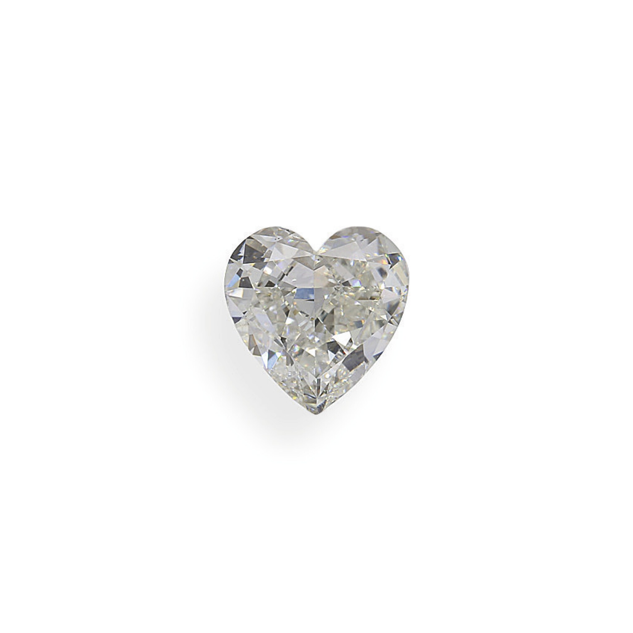 View full screen - View 1 of Lot 28. A 1.07 Carat Heart-Shaped Diamond, H Color, SI2 Clarity.