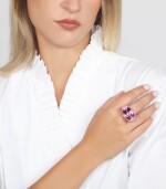 KUNZITE AND PINK SAPPHIRE RING, MICHELE DELLA VALLE