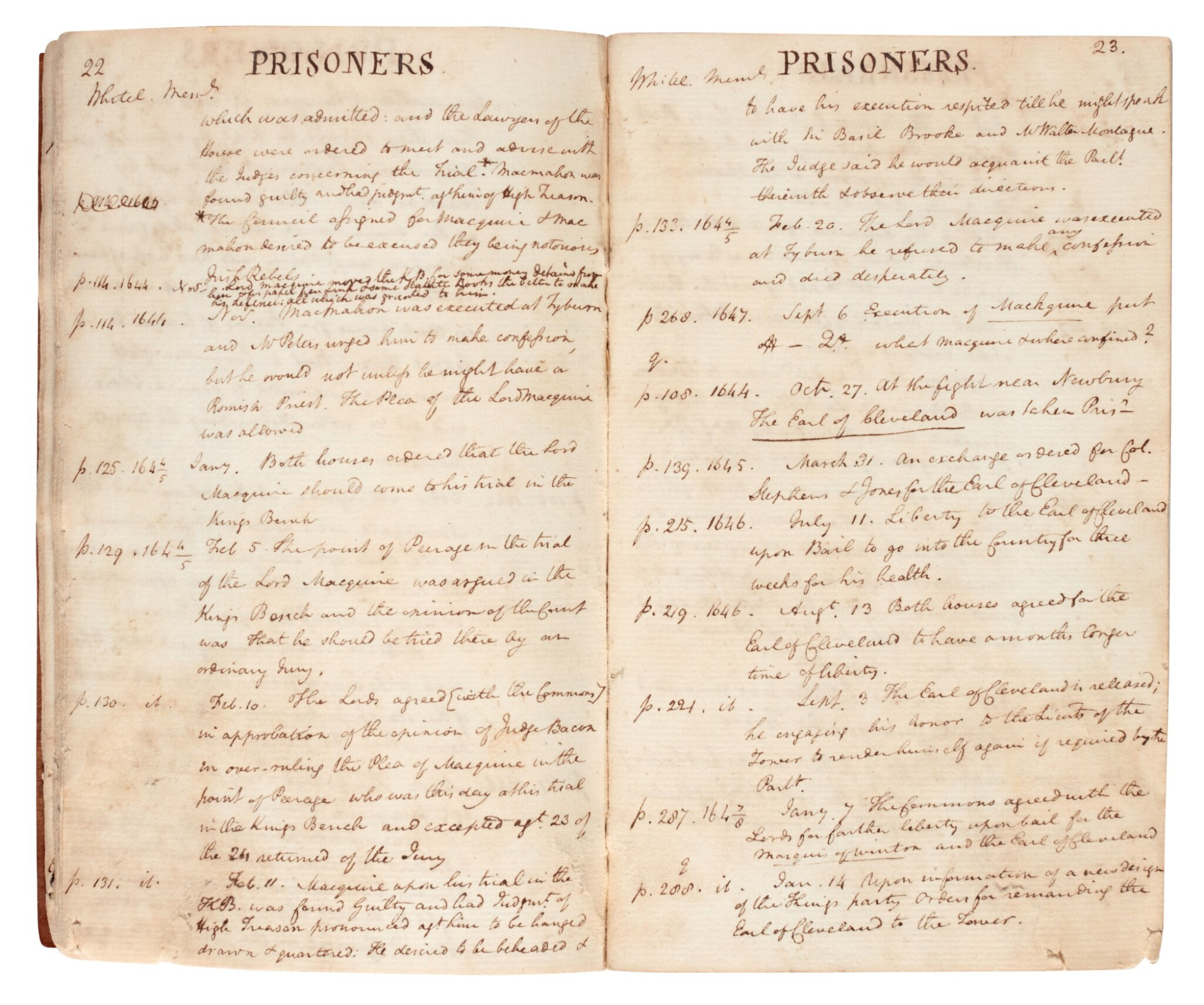 View full screen - View 1 of Lot 30. BONNEY | Manuscript history of the Tower of London, 1 volume, c.1794.