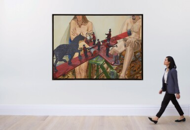 View 4. Thumbnail of Lot 551. PHILIP PEARLSTEIN | TWO MODELS WITH OLD WHIRLY-GIG: WHEN THE WIND BLOWS THE FIGURE WORKS.