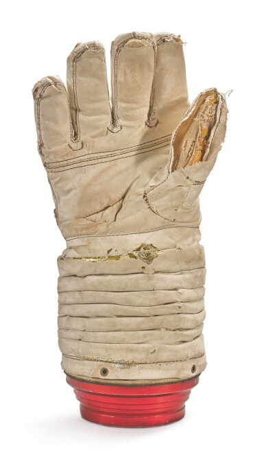 View 2. Thumbnail of Lot 13. APOLLO ADVANCED LUNAR EVA PROTOTYPE GLOVE, MADE FOR RUSSELL SCHWEICKART, CA 1966.