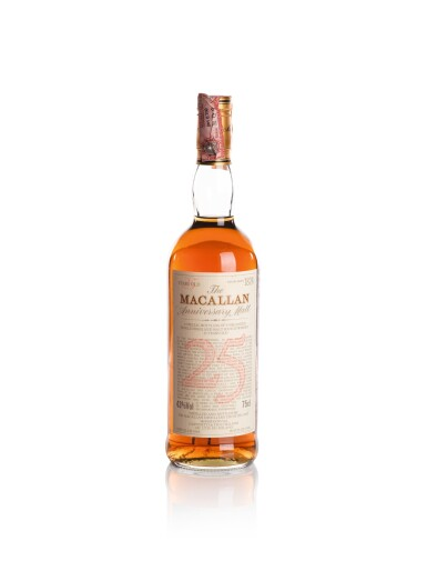 THE MACALLAN 25 YEAR OLD ANNIVERSARY MALT 43.0 ABV 1965