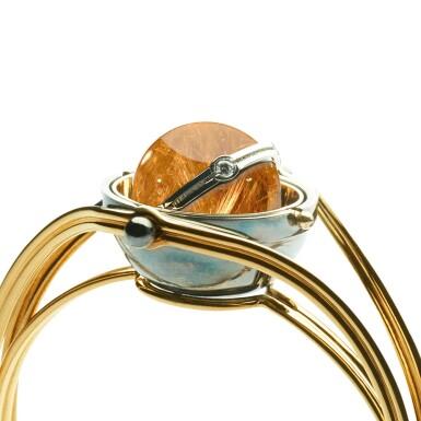 View 2. Thumbnail of Lot 4. Elie Top, Rutile Quartz and Diamond Bracelet [Bracelet Quartz Rutile et Diamant], 'Pluton' .