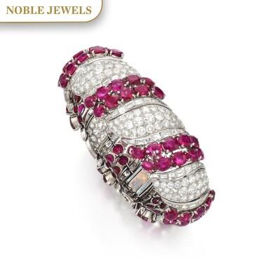 View 1. Thumbnail of Lot 170. Ruby and diamond bracelet | 紅寶石配鑽石手鏈.