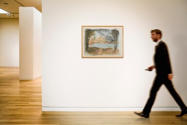 View 4. Thumbnail of Lot 413. LEON KOSSOFF   LANDSCAPE WITH CALM NO. 2.