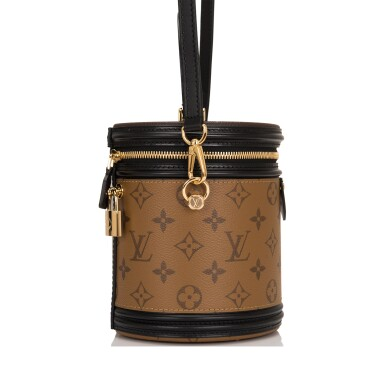 View 3. Thumbnail of Lot 87. Louis Vuitton Cannes Bag of Reverse Monogram Canvas with Golden Brass Hardware.