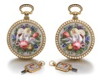 BOVET FLEURIER | A PAIR OF GOLD, ENAMEL AND PEARL-SET WATCHES MADE FOR THE CHINESE MARKET, CIRCA 1825, NO. 176