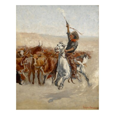View 1. Thumbnail of Lot 52. FREDERIC REMINGTON   THE ROUND-UP.