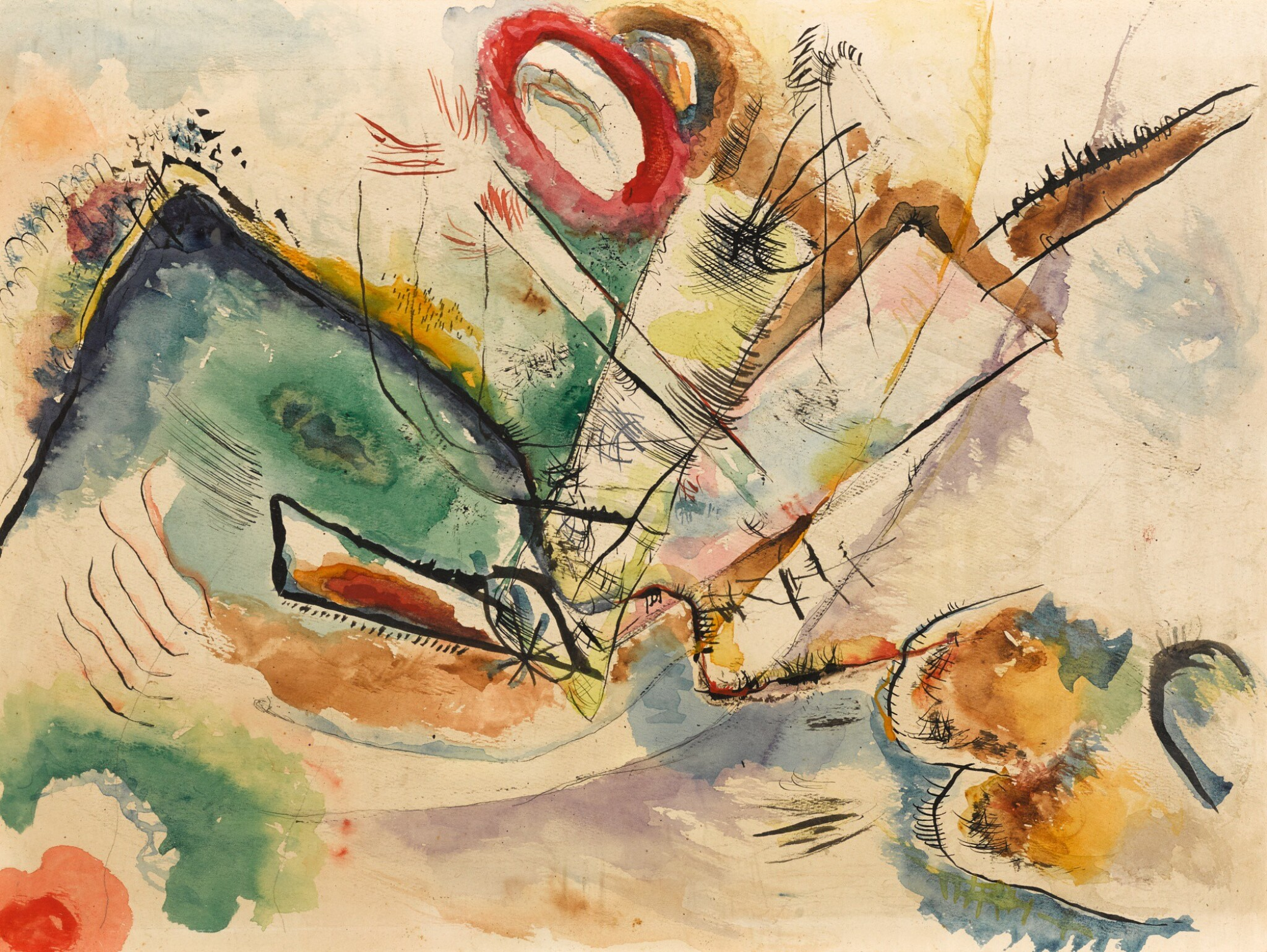 View full screen - View 1 of Lot 8. WASSILY KANDINSKY | OHNE TITEL (KOMPOSITION)  (UNTITLED (COMPOSITION)).