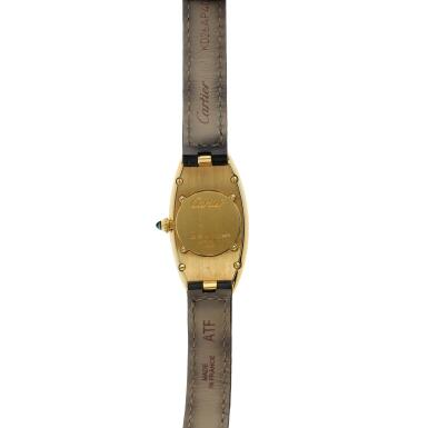 View 5. Thumbnail of Lot 93. Reference 2605 Baignoire Allongee  A large yellow gold oval wristwatch, Circa 2005.