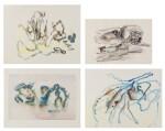 Henri Michaux| Sans Titre [4 oeuvres]