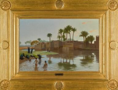 View 2. Thumbnail of Lot 29. Femmes fellahs au bain.