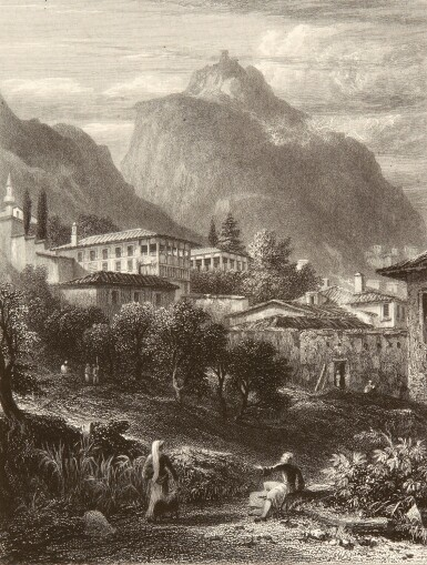 Williams | Select views in Greece, 1829, large paper copy in 12 original parts