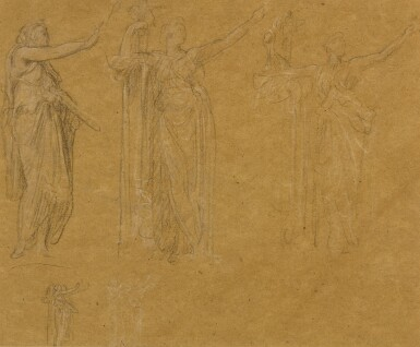 View 1. Thumbnail of Lot 19. Figure Studies for the Royal Academy Jubilee Address of 1887.