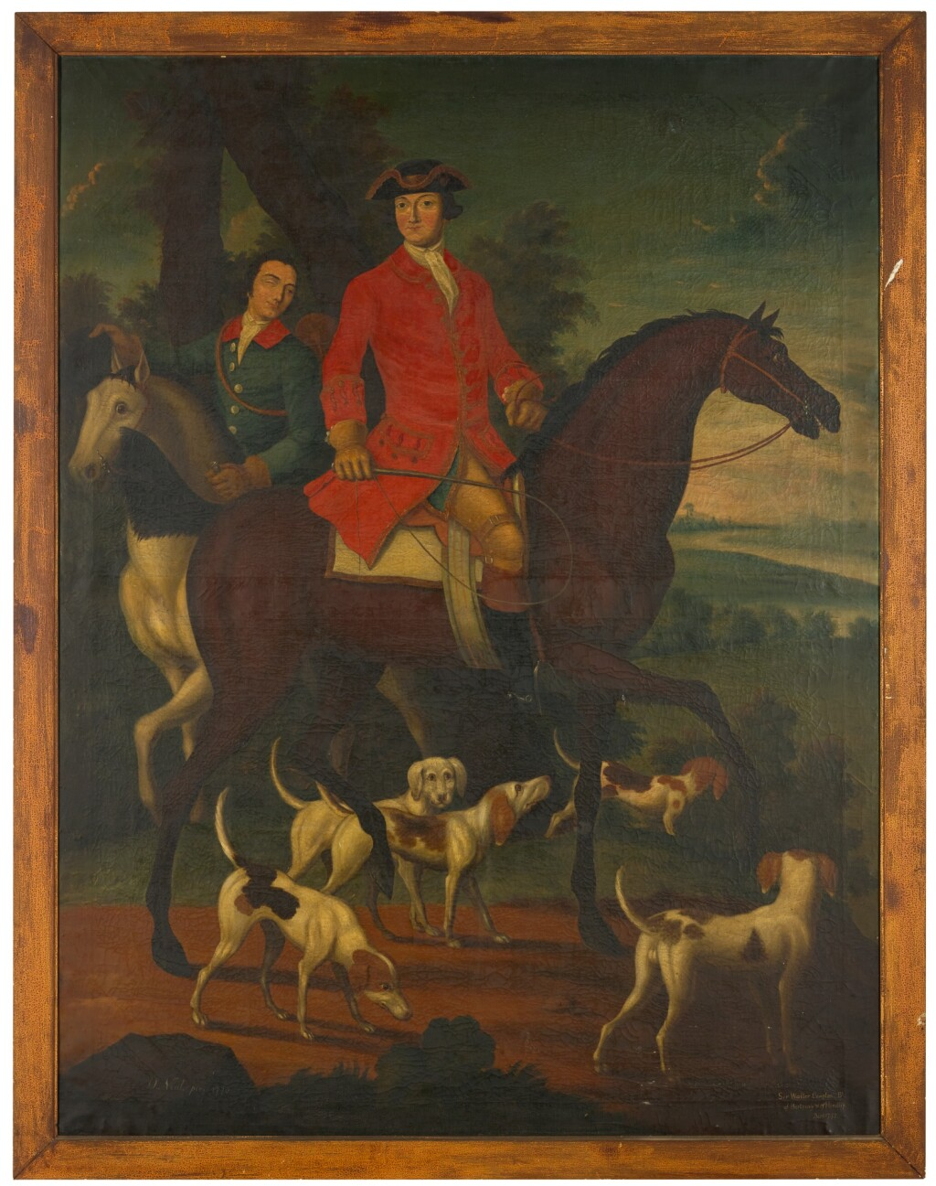 O. NEAL | Sir Walter Compton (1749-1773) and his hounds