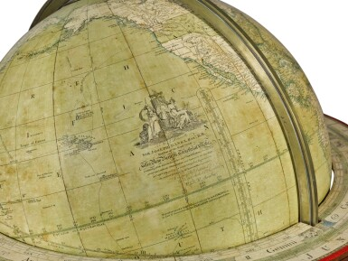 View 3. Thumbnail of Lot 67. A William IV 18-inch terrestrial globe by W. & T. M. Bardin, dated 1836.